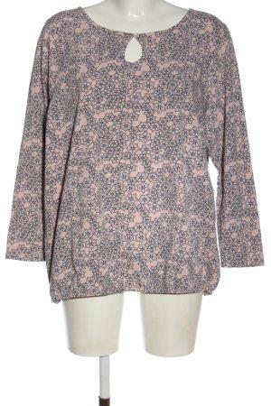 Gina Benotti Longsleeve pink-black allover print casual look