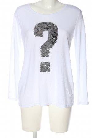 Gina Benotti Longsleeve white-silver-colored themed print casual look