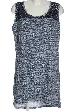Gina Benotti Blouse Dress blue-white mixed pattern casual look