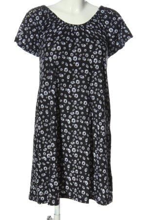 Gina Benotti Minikleid schwarz-weiß Allover-Druck Casual-Look