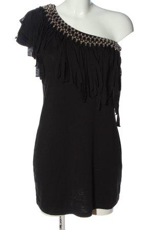 Gina Benotti Vestido de un hombro negro elegante
