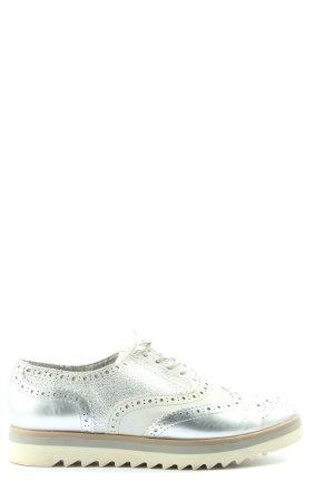 Gina Benotti Scarpa Oxford argento-bianco stile casual