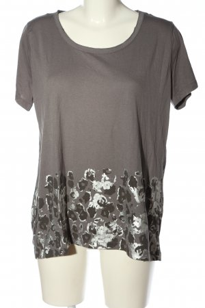 Gina Benotti Print-Shirt hellgrau Animalmuster Casual-Look