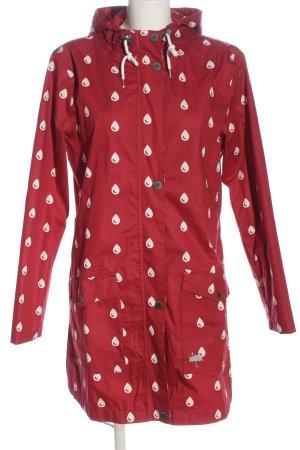 Gina Benotti Płaszcz przeciwdeszczowy czerwony-biały Na całej powierzchni
