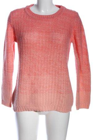 Gina Benotti Rundhalspullover pink Zopfmuster Casual-Look