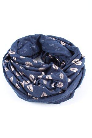Gina Benotti Scaldacollo blu-rosa stampa integrale stile casual