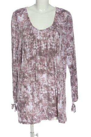 Gina Benotti Schlupf-Bluse braun-weiß abstraktes Muster Casual-Look