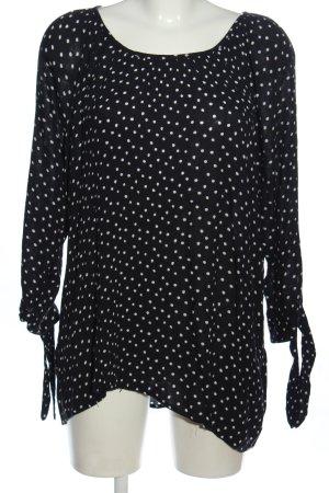 Gina Benotti Schlupf-Bluse schwarz-weiß Punktemuster Casual-Look