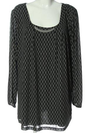 Gina Benotti Schlupf-Bluse schwarz-weiß abstraktes Muster Elegant