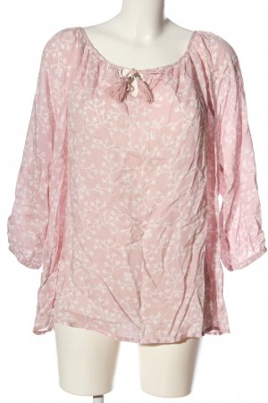 Gina Benotti Schlupf-Bluse pink Allover-Druck Casual-Look