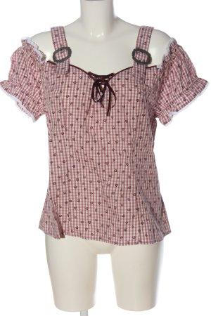 Gina Benotti Schlupf-Bluse pink-weiß Allover-Druck Casual-Look