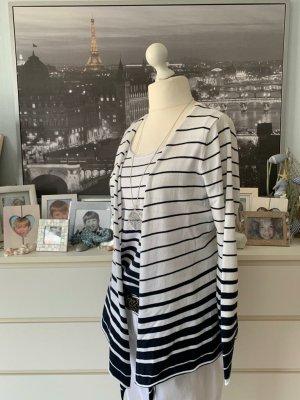 Gina Benotti Twin set in maglia bianco-blu scuro