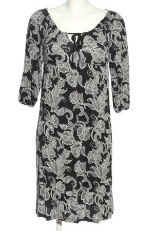 Gina Benotti Shirtkleid schwarz-hellgrau Blumenmuster Casual-Look