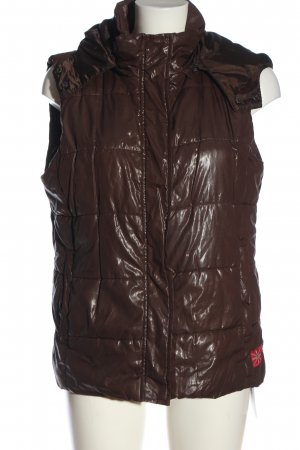Gina Benotti Quilted Gilet brown-red quilting pattern casual look