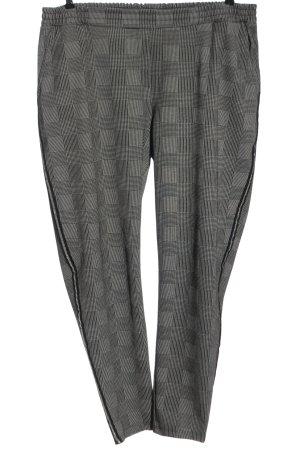 Gina Benotti Jersey Pants light grey-black check pattern casual look