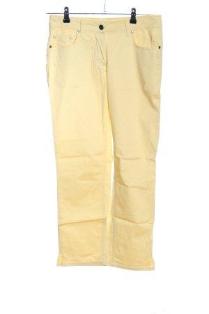 Gina Benotti Jeansy z prostymi nogawkami bladożółty W stylu casual