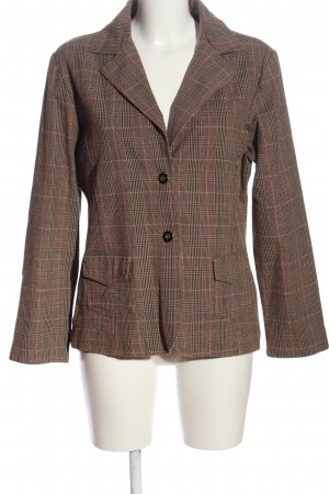 Gina Benotti Knitted Blazer brown check pattern casual look