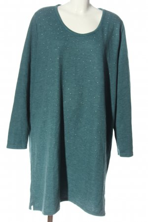 Gina Benotti Knitted Dress turquoise striped pattern casual look
