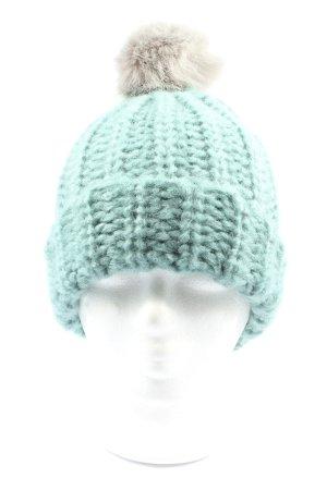 Gina Benotti Chapeau en tricot turquoise style décontracté