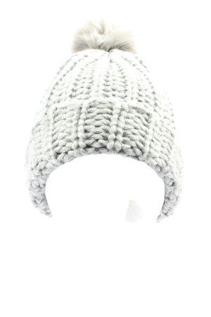 Gina Benotti Chapeau en tricot gris clair style décontracté