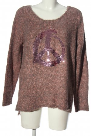 Gina Benotti Knitted Sweater pink-light grey flecked casual look