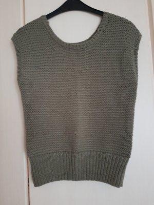 Gina Benotti Fine Knitted Cardigan khaki cotton