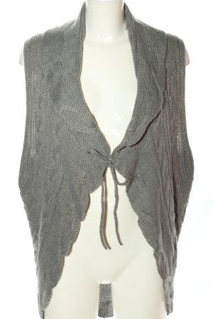 Gina Benotti Smanicato lavorato a maglia grigio chiaro stile casual