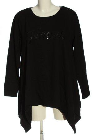 Gina Benotti Sweatshirt schwarz Schriftzug gedruckt Casual-Look