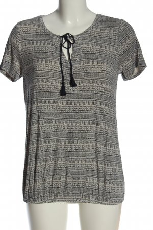 Gina Benotti T-Shirt schwarz-wollweiß Allover-Druck Casual-Look