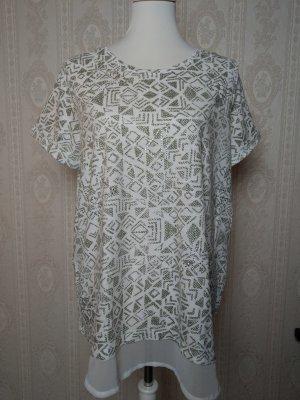 Gina Benotti T-Shirt kaki- weiss Casual-Look