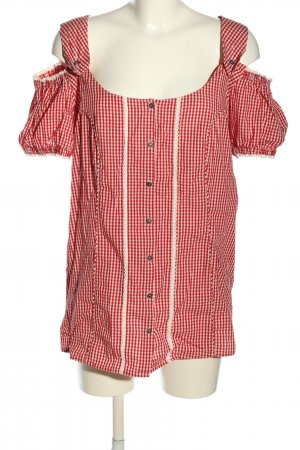 Gina Benotti Folkloristische blouse rood-wit geruite print klassieke stijl