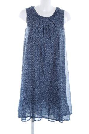 Gina Benotti Abito scamiciato blu-bianco stampa integrale stile casual