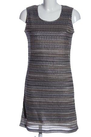 Gina Benotti Trägerkleid silberfarben grafisches Muster Elegant