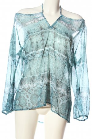 Gina Benotti Transparentna bluzka niebieski-czarny Na całej powierzchni