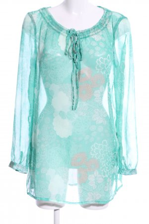 Gina Benotti Transparenz-Bluse Allover-Druck Casual-Look