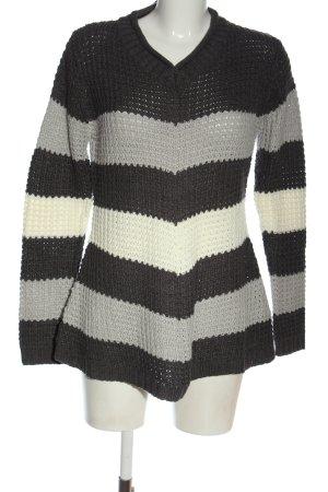 Gina Benotti V-Ausschnitt-Pullover Streifenmuster Casual-Look