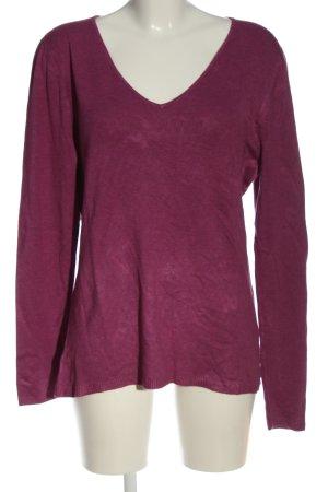 Gina Benotti V-Ausschnitt-Pullover pink Casual-Look