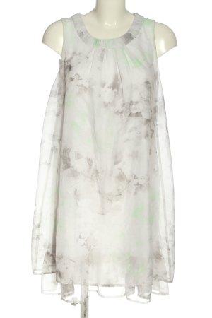 Gina Benotti Vestido estilo flounce blanco-gris claro look casual