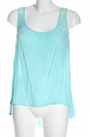 Gina Blouse topje blauw-turkoois casual uitstraling