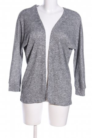 Gina Cardigan hellgrau Streifenmuster Business-Look