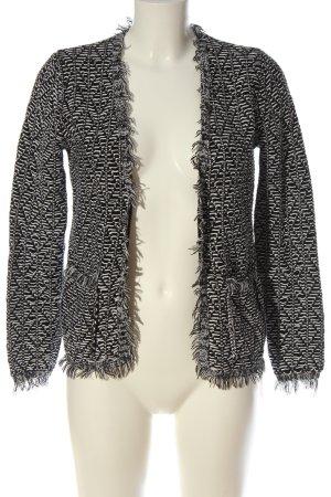 Gina Cardigan schwarz-weiß abstraktes Muster Casual-Look