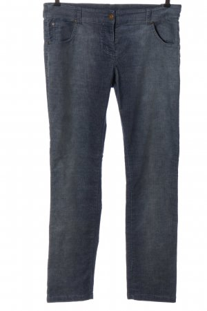 Gina Corduroy Trousers blue casual look