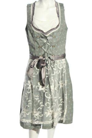 Gina Vestido Dirndl estampado con diseño abstracto estilo clásico