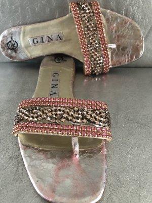 Gina Entre-doig à talon haut multicolore cuir