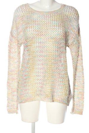 Gina Crochet Sweater flecked casual look