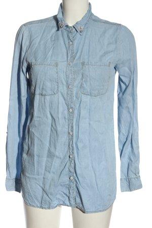 Gina Camicia blusa blu stile casual