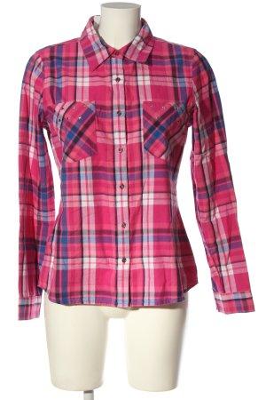 Gina Lumberjack Shirt pink-blue allover print casual look