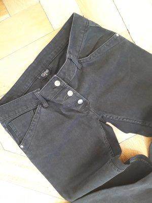 GINA Jeans, Gr. 36/38, Länge ca.32, schwarz    NEUWERTIG!!!