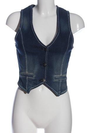 Gina Gilet en jean bleu style décontracté