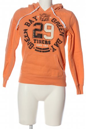 Gina Kapuzensweatshirt hellorange Motivdruck Casual-Look